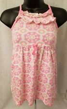 Carter's Girls Pink/White/Orange Floral/Snowflakes Design Sundress Dress Size 5