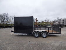 Enclosed Utility Hybrid Trailer 7'x18' - Lawn Mower Equipment Hauler