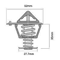 Tridon Thermostat (High Flow) TT2042-192 fits Ford Everest 3.2 D 4x4 (UA), 3....