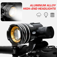 15000LM Waterproof T6 LED Mountain Bike Lights USB Rechargeable Front Rear Light