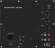 MONACOR aktives Subwoofer-Modul SAM-200D / Class D / stufenlos regelbar / 200 W