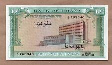 GHANA - 10 SHILLINGS  - 1.7.1963 - P1d - UNCIRCULATED