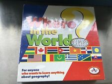 WHERE IN THE WORLD? Geography Learning Board Game By Talicor Aristoplay Complete