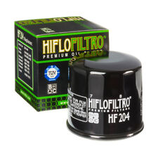 HiFlo Glossy Black Oil Filter HF204 NEW Motorcycle