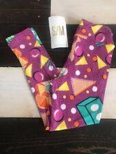 New Lularoe Disney Kids Purple Leggings Small Medium S / M Clubhouse Shapes