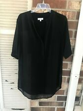 A Dip of Darling Black SHEER TUNIC SIZE S