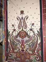 "Fabric Imperial Paisley on Cotton Panel 24""x42"""