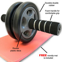 Ab Wheel Roller Body Workout Fitness Abdominal Total Core Carver Gym Abs