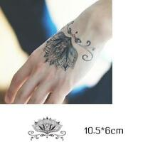 Removable Stickers Body Art Tattoo Waterproof Temp Tattoo--Lotus HD