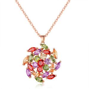 Fashion Jewelry Mona Lisa Fire Amethyst Garnet Peridot Rose Gold Plated Pendants