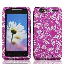 For Motorola DROID RAZR MAXX HARD Case Snap On Phone Cover Purple White Vines