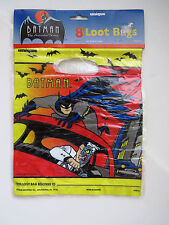 8 Vtg BATMAN & ROBIN Loot Bags Party Favor Bags 1992 DC Animated Sealed Bags NOS