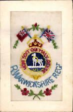 World War 1 Regimental Silk. Royal Warwickshire Regiment.