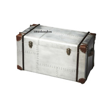 Vintage Aviator Aluminium Storage Trunk & Chests Antique Trunk Box
