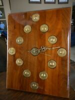 Alcoholics Anonymous Medallion Clock 12 Vintage AA Collectible Handmade Wood