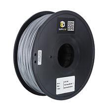 SUPPLY3D PLA plus 1.75 mm 3D Printer Filament in Gray, 1kg Spool