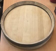 Recycled Solid Oak Whisky Barrel End | Lid | Drinks Tray | Wall Plaque