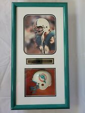 """Larry Csonka Dolphins Autographed Signed Photo Framed with mini Helmet 26"""" x 14"""""""
