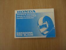 Conducteur manuel Honda CBR 900 RR sc33 Fire Blade 1995 Manuel TU conducteur