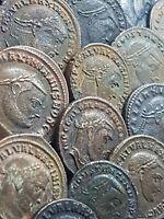 ONE AE FOLLIS LARGE COIN ROMAN IMPERIAL / MAXIMIANUS , MAXIMINUS , DIOCLETIANUS