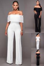 tuta elegante pantaloni lungo jumpsuit vestito abito cerimonia donna casual 282