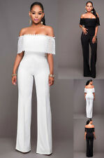 tuta elegante pantaloni lungo jumpsuit vestito abito cerimonia donna casual  282 c61344d2941