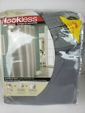 "Hookless Waffle Fabric Shower Curtain - Frost Gray - Size:71""x86"""