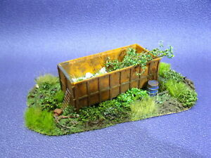 Lost Places alter Container Diorama TOP gealtert patiniert begrünt H0 1:87 #102