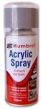 Acrylic Model Kit Spray Paint Humbrol 150ml Matt White Metal Ceramic Plastic Gla