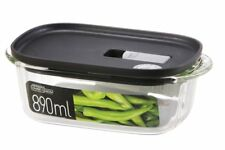 NEW Lock & Lock Modern Steam Glass Rectangular Container 890ml