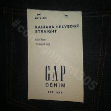 $108 GAP Kaihara Japanese Selvedge Denim RAW Straight Jeans sz 42 x 30 nwt