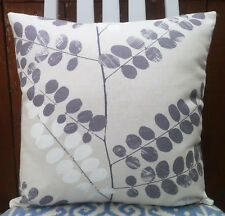 "Cushion Cover/16""x16""/John Lewis MALIN Fabric,Steel"