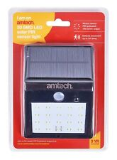 20 Smd Led Solar Pir Sensor Light Lamp Garden External Outdoor Garage Lighting