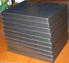 Lot of 10 Empty, Black DVD Single Disc Replacement Cases With Logo -  New