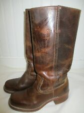 FRYE Campus Women's 77050 Pull On Brown Leather Tall Boots Size 7 M Made in USA