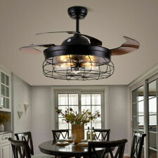 Modern Ceiling Fan Lights w/Invisible Blades and Remote Control LED Chandelier