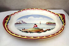 FRENCH FAIENCE VEUVE PERRIN SEAU A BOUTEILLE SERVING TRAY VP CERAMIC ANTIQUE