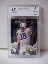 1998 CE Advantage Peyton Manning RC BCCG Near Mint 9 Football Card #189 NFL