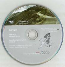 ORIGINALE AUDI RNS-E 2004-2009 Disco di navigazione DVD NAVIGATORE SATELLITARE MAPPA 2012 Regno Unito BEL fra SP