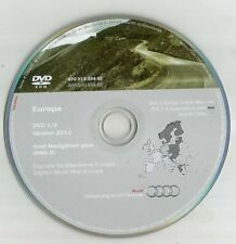 Original Audi RNS-E 2004-2009 discos DVD de navegación Sat Nav mapa 2012 Reino Unido Bel FRA SP