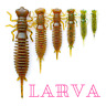 "LARVA Fanatik Soft Eatable fishing baits 1.6"" 2"" 2.5"" 3"" 3.5"" 4.5"""