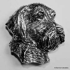 Wire Hair Fox Terrier Pewter Pin Brooch -British Handcrafted- Dog Gift Present