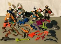 Vintage 1980s-1990s TMNT Action Figure Weapons And Accessory Lot Playmates Toys