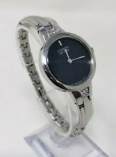 Citizen Womens Eco Drive Stainless Steel B023-S081122 Black Dial Watch