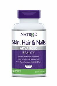 Natrol Skin, Hair and Nails Advanced Beauty, 60 Capsules (5,000mcg Biotin)