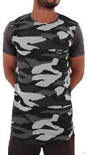 Time Is Money Mens Boys Army Camo Star Summer Long Hip Hop Tee Shirts Club BW