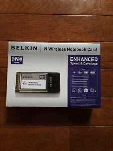 NIB Belkin Wireless N Notebook Network Card Adapter F5D8013 Laptop BRAND NEW