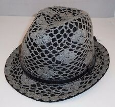 PETER GRIMM HURLEY STINGY BRIM LACY OVERLAY TRUE CHARACTER FEDORA