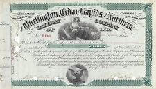 BURLINGTON CEDAR RAPIDS & NORTHERN RAILWAY COMPANY IOWA 1902 SHARES CERTIFICATE
