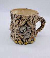 Vintage Koala with Baby Ceramic Tree and Mushrooms Coffee Cup Mug